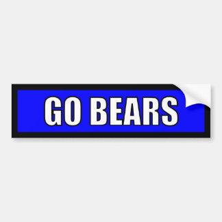 Bears - Black Blue White Bumper Sticker