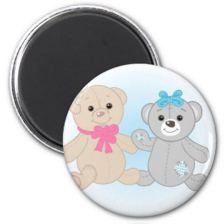 Bears couple 2 inch round magnet