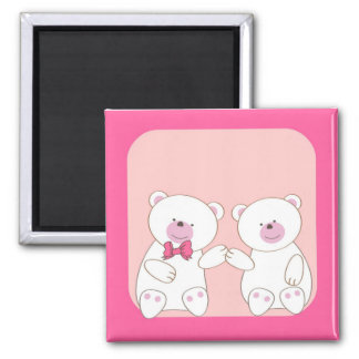 Bears couple 2 inch square magnet