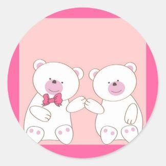 Bears couple classic round sticker