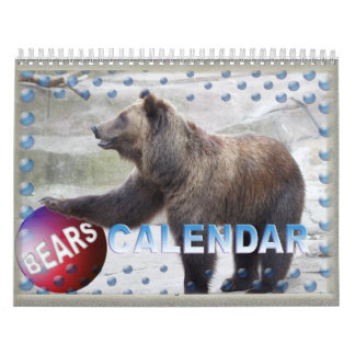 BEARS Custom Printed Calendar