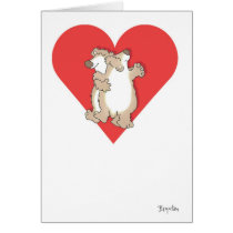 BEARS DANCING Valentines by Boynton Card