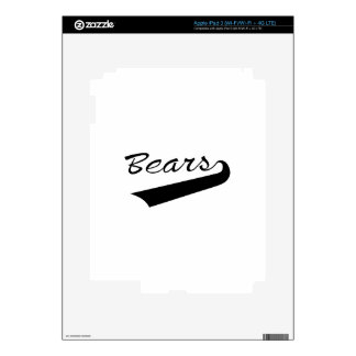 Bears Decals For iPad 3