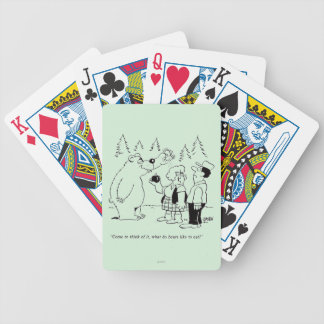 Bears Dinner Bicycle Playing Cards