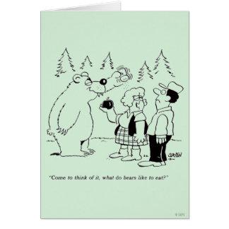 Bears Dinner Cards
