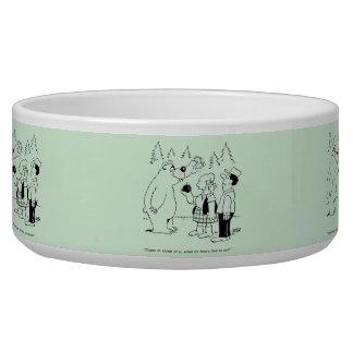 Bears Dinner Dog Water Bowls