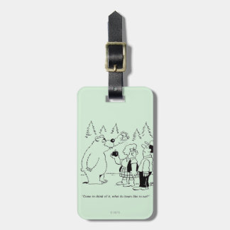 Bears Dinner Tag For Luggage