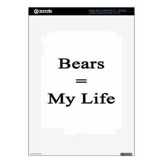 Bears Equal My Life iPad 3 Skin