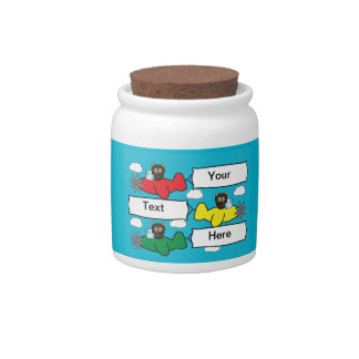 Bears Flying Planes Candy Jar