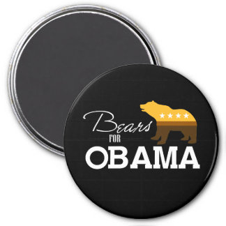 Bears for Obama 2- 3 Inch Round Magnet