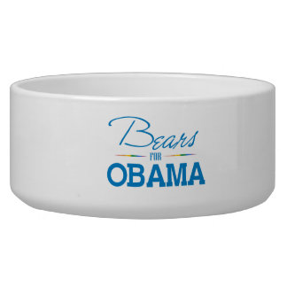 Bears for Obama Dog Food Bowl