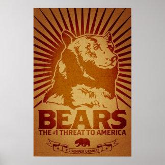 bears godless killing machines humor funny poster
