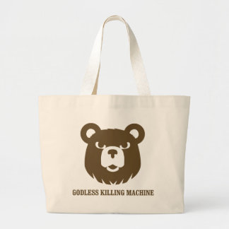 bears godless killing machines humor funny tshirt canvas bags