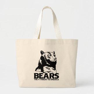 bears godless killing machines humor funny tshirt tote bag