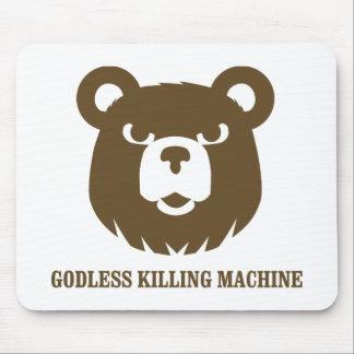 bears godless killing machines humor funny tshirt mouse mats