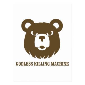 bears godless killing machines humor funny tshirt postcard