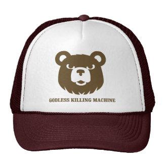 bears godless killing machines humor funny tshirt trucker hat