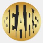 BEARS - GOLD TEXT STICKER