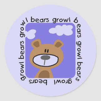 Bears Growl Tshirts and Gifts Sticker