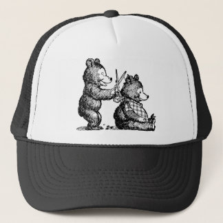 Bears Having a Haircut Trucker Hat