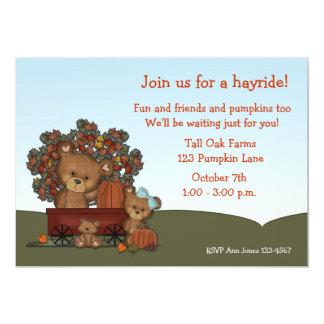 Bears Hayride Invitation