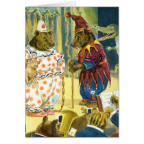 Bears in a Christmas Pageant in Animal Land Card