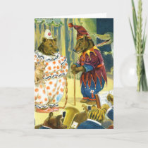 Bears in a Christmas Pageant in Animal Land Holiday Card