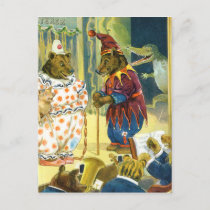 Bears in a Christmas Pageant in Animal Land Holiday Postcard