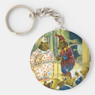 Bears in a Christmas Pageant in Animal Land Keychain