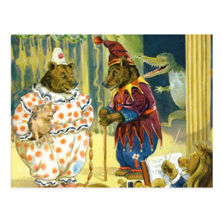 Bears in a Christmas Pageant in Animal Land Post Card