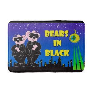 Bears In Black Medium Bath Mat