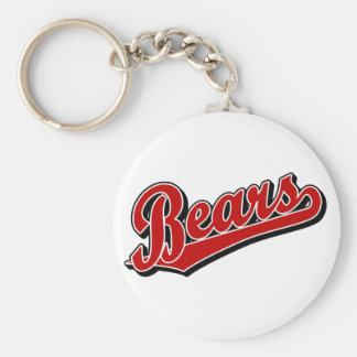 Bears in Red Keychain