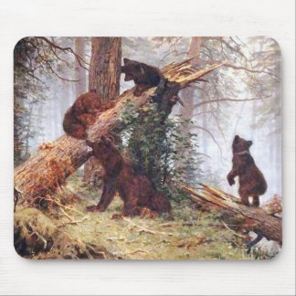 Bears in the Woods Mouse Pad