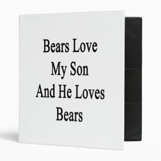 Bears Love My Son And He Loves Bears Vinyl Binder