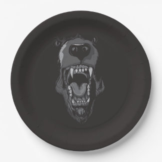 BEAR'S MOUTH 9 INCH PAPER PLATE