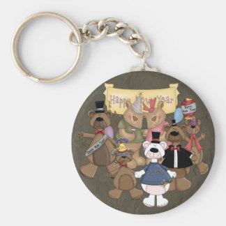 Bears New Years Party Keychain