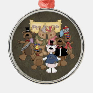 Bears New Years Party Ornaments