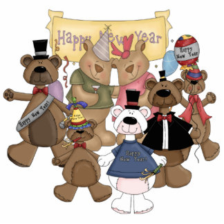 Bears New Years Party Photo Cut Out