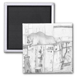 bears on a dumpster magnet