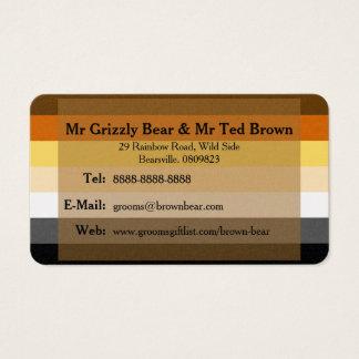 Bears on Bear Flag Gay Grooms Contact Card