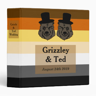 Bears on Bear Flag Photo Album Gift for Gay Grooms Binders