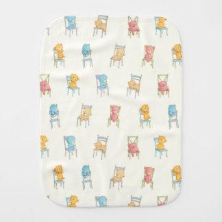 Bears On Chairs Pattern Burp Cloth