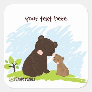 Bears Organig Planet Stickers