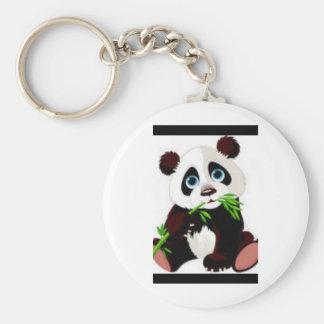 Bears, Panda, Animals, Cute Basic Round Button Keychain