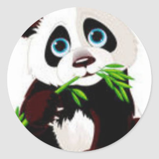 Bears, Panda, Animals, Cute Classic Round Sticker
