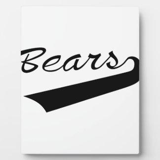 Bears Plaque