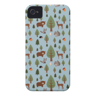 Bears, Raccoons, Squirrels, Hedghogs and Trees iPhone 4 Case