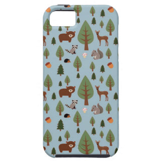 Bears, Raccoons, Squirrels, Hedghogs and Trees iPhone SE/5/5s Case
