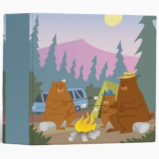 bears roasting marshmallows notebook 3 ring binders
