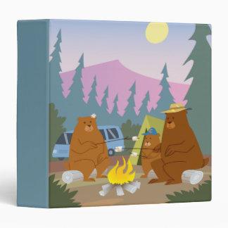 bears roasting marshmallows notebook binder